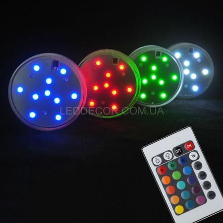 LED светящаяся подставка с пультом