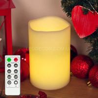 Свеча светодиодная 15 см с дистанционным управлением