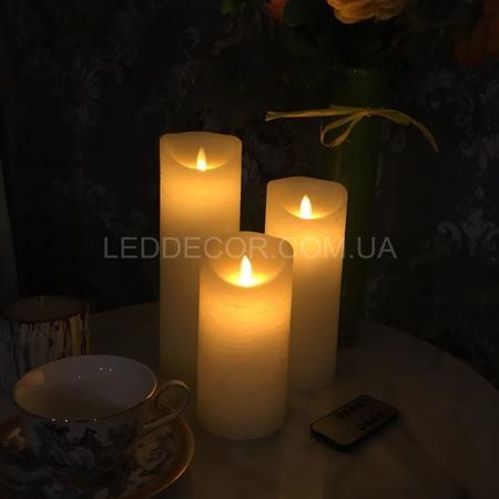 Свечи светодиодные D8H24 с имитацией пламени и пультом ДУ