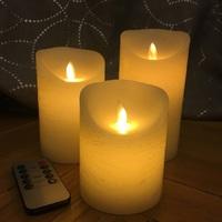 Свечи светодиодные D8H15 с имитацией пламени и пультом ДУ