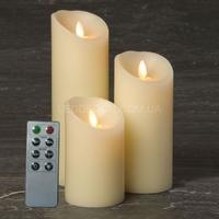 Свечи светодиодные D85 с имитацией пламени и пультом ДУ