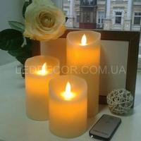 Свечи светодиодные H18 с имитацией пламени и пультом ДУ