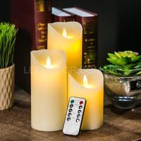 Свечи светодиодные с имитацией пламени и пультом  ДУ