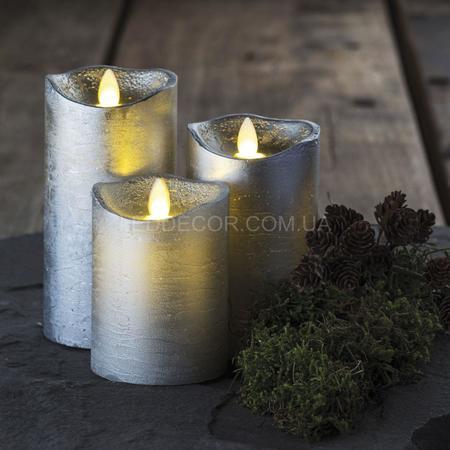 Свечи светодиодные с имитацией пламени Tenna Silver