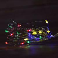 Светодиодная гирлянда 2 метра цветная на батарейках
