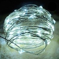 Светодиодная гирлянда 4 метра на батарейках холодный свет