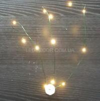 Светодиодная гирлянда Flora Green 3x4L теплый свет на батарейках