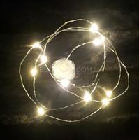 Светодиодная гирлянда Flora Silver 12L теплый свет на батарейках