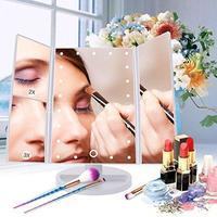 Зеркало  для макияжа с подсветкой и увеличением настольное FM22X2X3 white