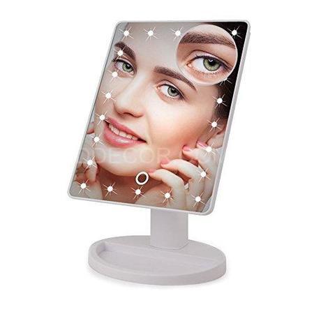 Зеркало для макияжа с подсветкой и увеличением настольное FM22X10 white