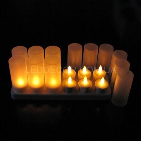 """Свечи """"чайные"""" светодиодные с аккумулятором набор"""