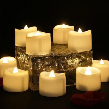 """Свечи светодиодные """"чайные оплавленные"""" набор"""