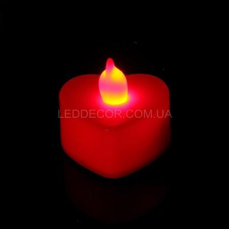 Свеча светодиодная Red Heart