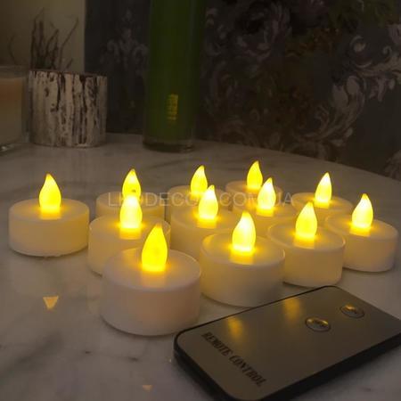 """Свечи """"чайные"""" светодиодные с пультом ДУ набор"""
