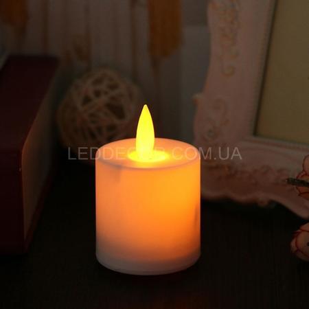 """Свеча светодиодная """"чайная"""" с имитацией пламени"""